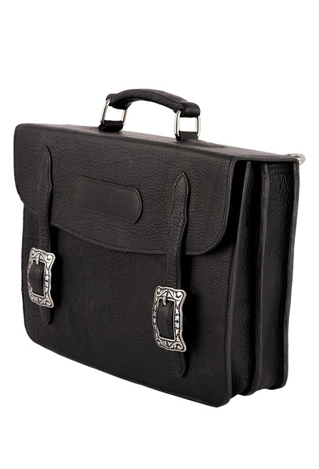 Pinto Ranch American Bison Briefcase - Side