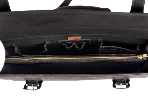 Pinto Ranch American Bison Briefcase - Inside