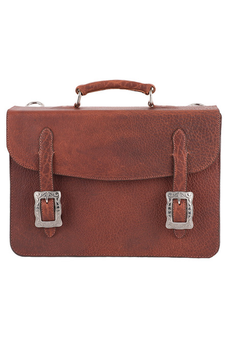 Pinto Ranch American Bison Briefcase - Front