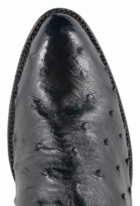 Lucchese Women's Black Full-Quill Ostrich Corded Boots - Toe