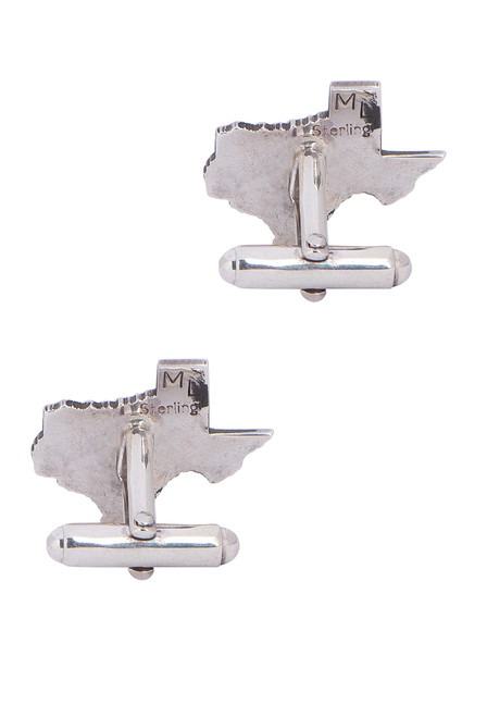 Pinto Ranch State of Texas Silver Cufflinks - Back