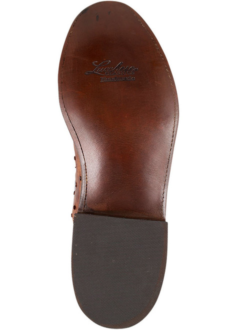 Lucchese Men's Barnwood Full-Quill Ostrich Roper Boots - Sole