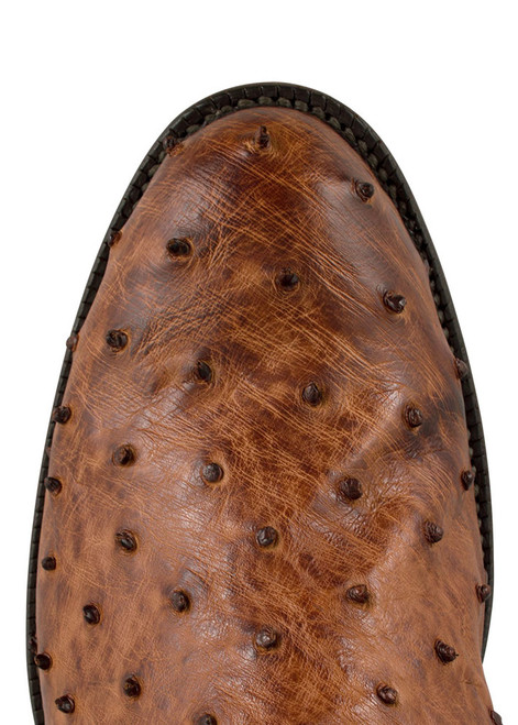 Lucchese Men's Barnwood Full-Quill Ostrich Roper Boots - Toe