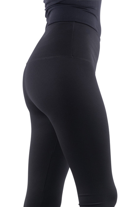 Lysse Center Seam Ponte Leggings - Black - Close-UP