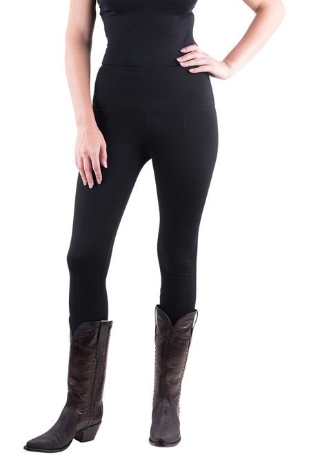 Lysse Center Seam Ponte Leggings - Black - Front