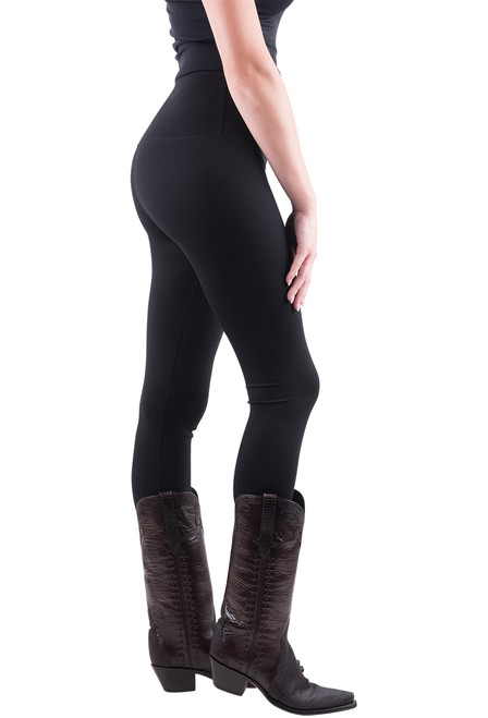 Lysse Center Seam Ponte Leggings - Black - side