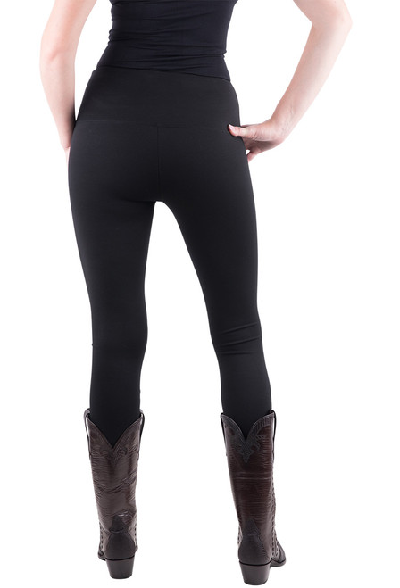 Lysse Center Seam Ponte Leggings - Black - Back