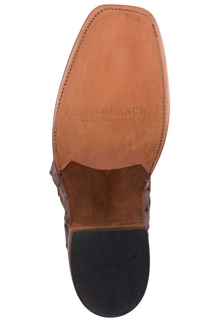 Rios of Mercedes Men's Cafe Americano and Chestnut Full-Quill Ostrich Boots - Bottom