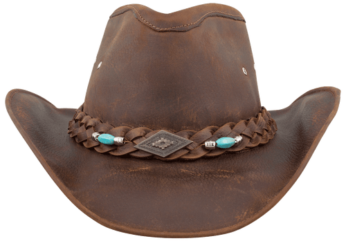 Bullhide Royston Leather Hat - Front