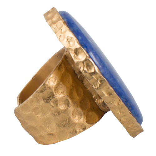 Christina Greene Lapis Statement Ring