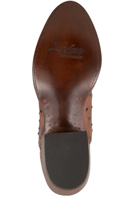 Lucchese Women's Barnwood Full-Quill Ostrich Boots - Bottom