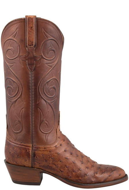 Lucchese Women's Barnwood Full-Quill Ostrich Boots - Side