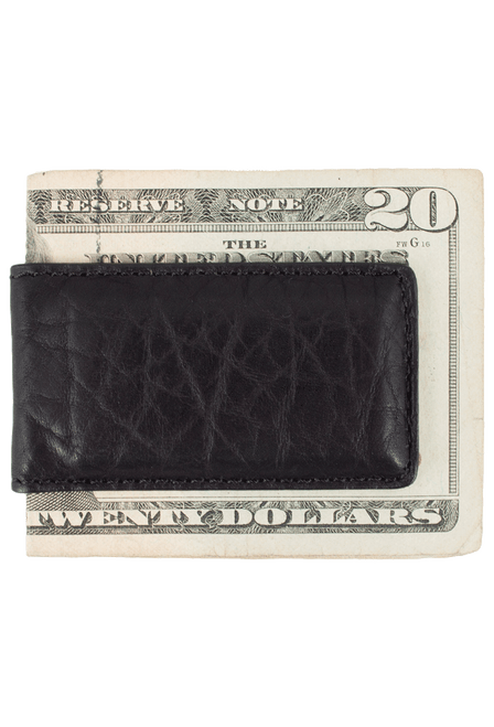 Bison Magnetic Money Clip - Black - Back