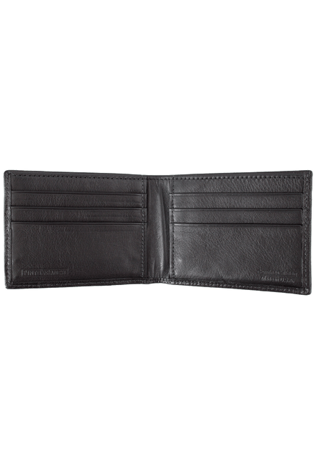 Calf Slim Fold Wallet - Black - Inside
