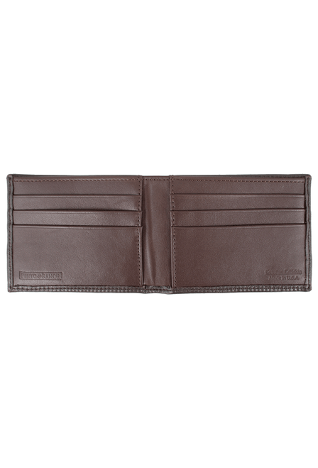 Calf Slim Fold Wallet - Brown - Inside