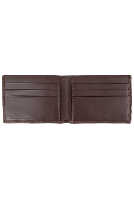 Bison Slim Fold Wallet - Brown - Inside
