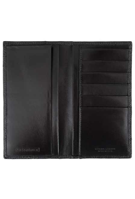 Ostrich Checretary Wallet - Black - Inside
