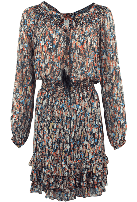 Scully Honey Creek Feather Print Dress - Front