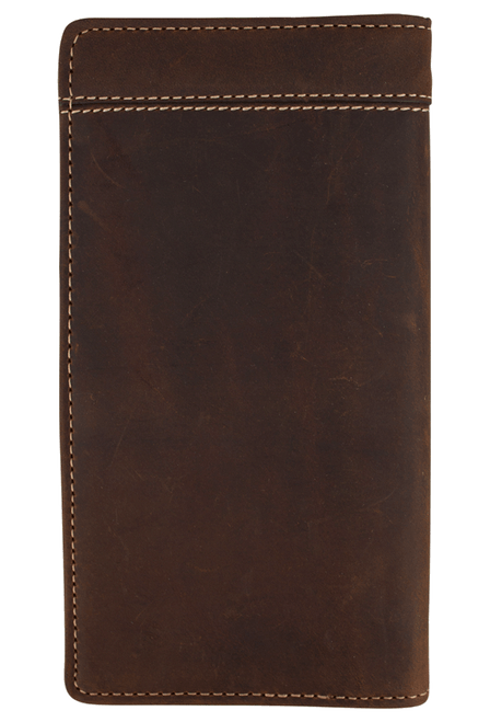 Western Classic Checkbook Wallet - Brown - Back