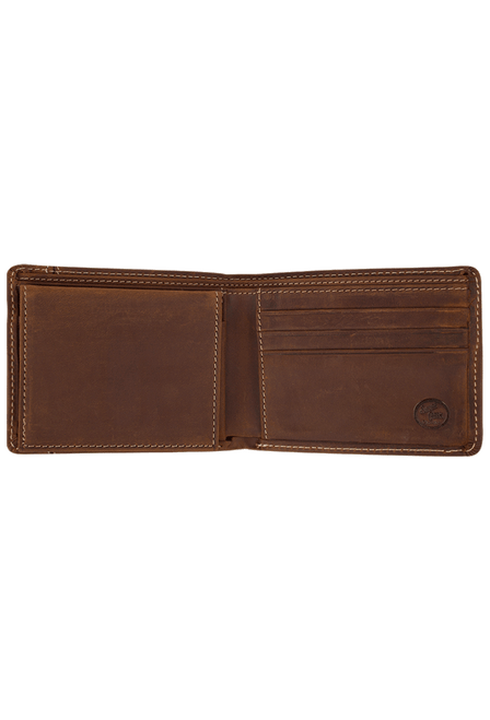 Western Classic Passcase Wallet - Brown - Inside