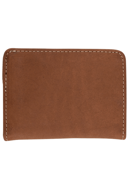 Gaucho Bifold Wallet - Tan and Brown - Back