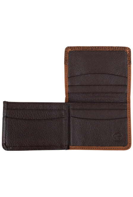Gaucho Bifold Wallet - Tan and Brown