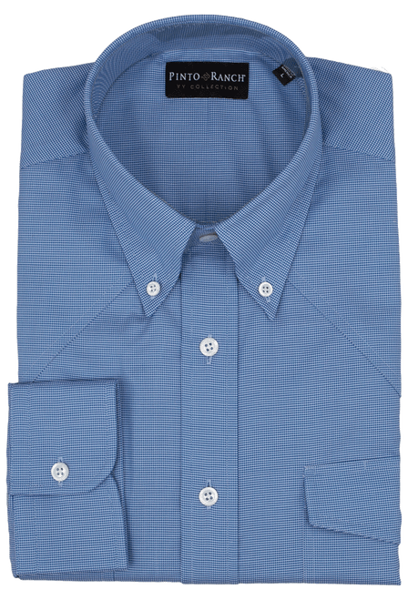 Pinto Ranch YY Collection Blue Fancy Solid Shirt