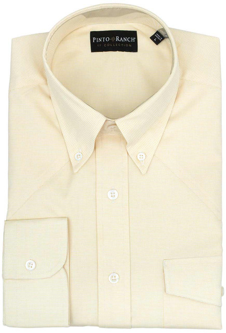 Pinto Ranch YY Collection Yellow Fancy Solid Shirt