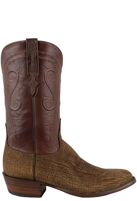 Lucchese Men's Tan Hippo Boots - Side