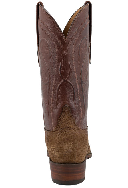 Lucchese Men's Tan Hippo Boots - Back
