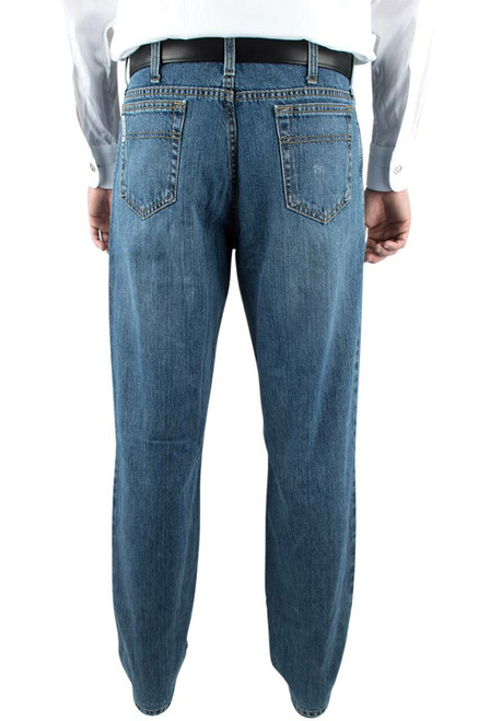 Cinch White Label Relaxed Fit Medium Stonewash Jeans - Back