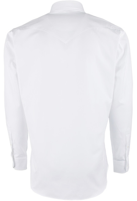Pinto Ranch YY Collection White Pinpoint Solid Shirt - Back
