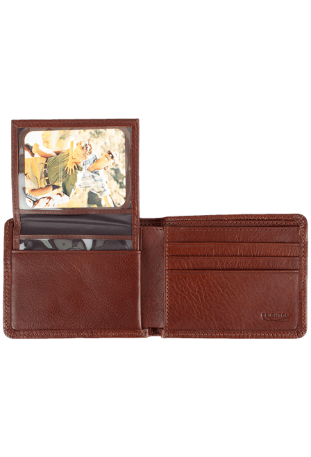 Leather Carnegie Passcase - Brown - Inside
