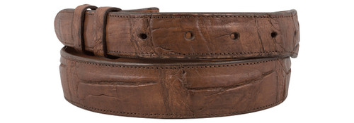 "Alligator Antique Cognac 1 1/4 - 1"" Tapered Belt Strap"