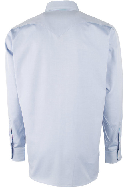 Pinto Ranch YY Collection Blue Pinpoint Solid Shirt - Back