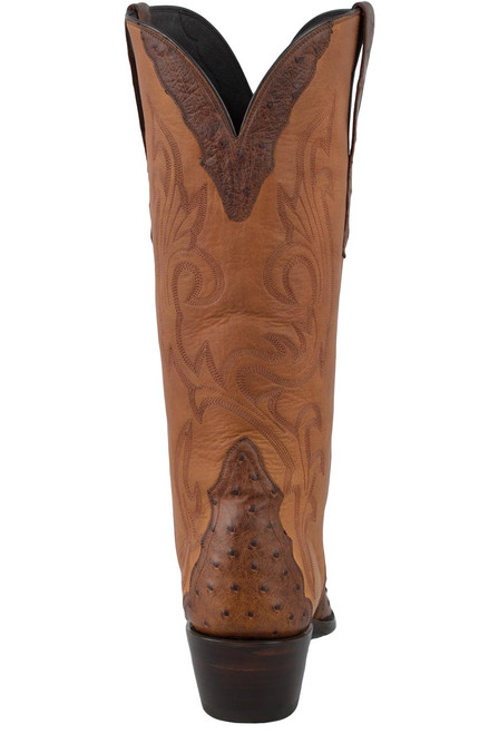 Stallion Women's Antique Saddle Full-Quill Ostrich Triad Boots - Back