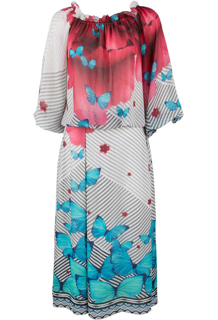 Vintage Collection Butterfly Rose Dress - Front