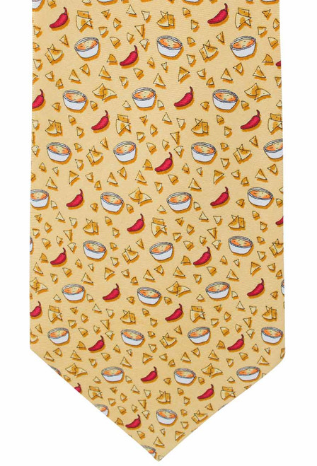 Paris Texas Apparel Co. Chips & Queso Tie - Yellow