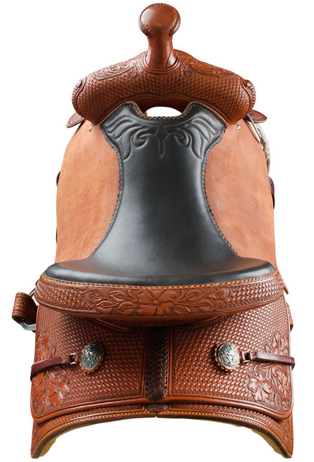 Pinto Ranch Will James Ranch Roper Western Saddle - Back