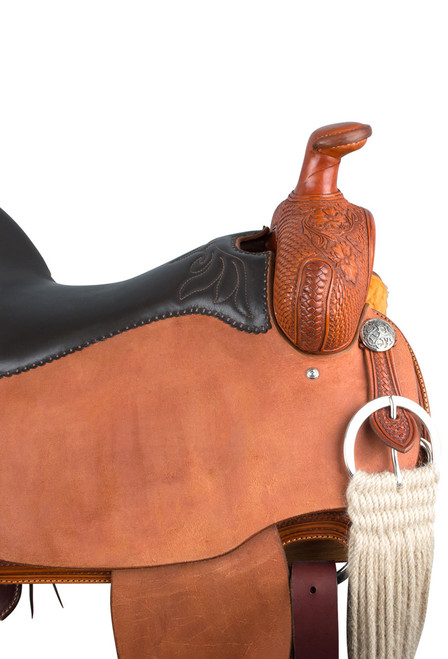 Pinto Ranch Will James Ranch Roper Western Saddle - Horn Detail