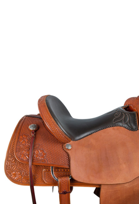Pinto Ranch Will James Ranch Roper Western Saddle - Seat Detail