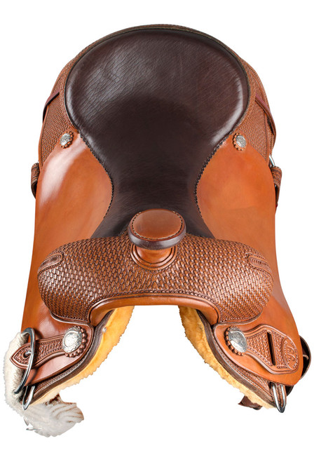 Pinto Ranch Ranch Cutting Western Saddle - Front