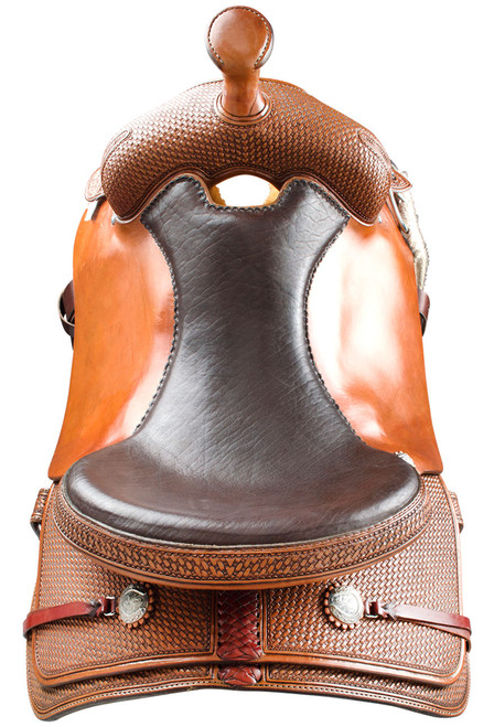 Pinto Ranch Ranch Cutting Western Saddle - Back