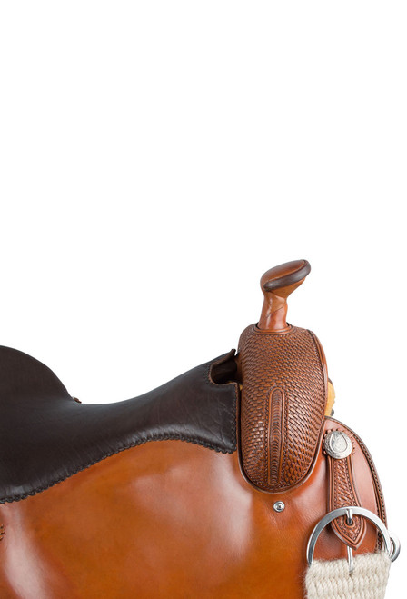 Pinto Ranch Ranch Cutting Western Saddle - Horn - Detail