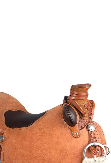 Pinto Ranch Ray Hunt Wade Western Saddle - Horn - Detail