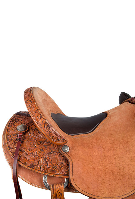 Pinto Ranch Ray Hunt Wade Western Saddle - Seat - Detail