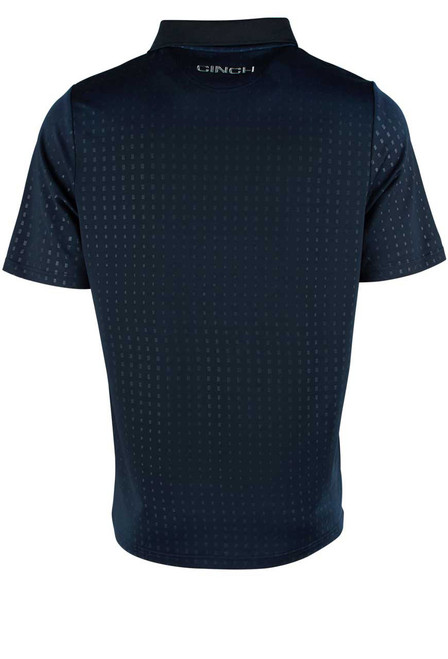 Cinch ArenaFlex Navy Embossed Polo Shirt