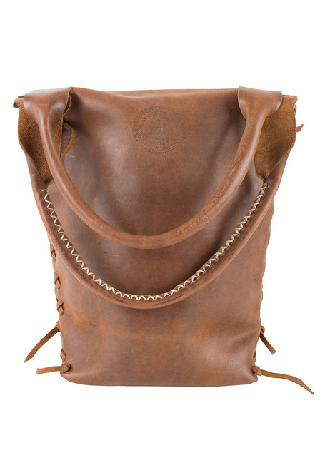 Steamboat Style Leather Saddle Bag - Back