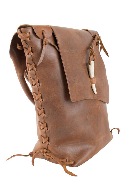 Steamboat Style Leather Saddle Bag - Side