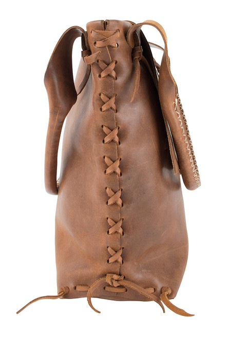 Steamboat Style Leather Saddle Bag - Side 2